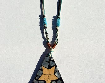 Wooden Necklace; Handmade Necklace