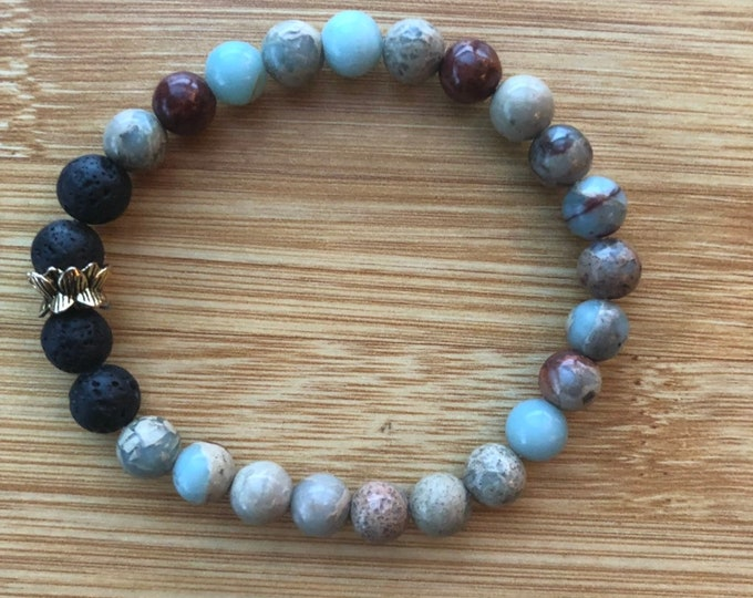 Be Your Natural Self Natural Opal Mala Beads Bracelet