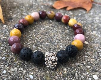 Mookite 8mm mala bead lava beads bracelet