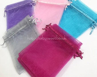 5x7 inch Jewelry Gift Organza Bags Beads Bags Wedding Favors Candy Pouches Home Party Decoration Crafts Pack Festive Supplies