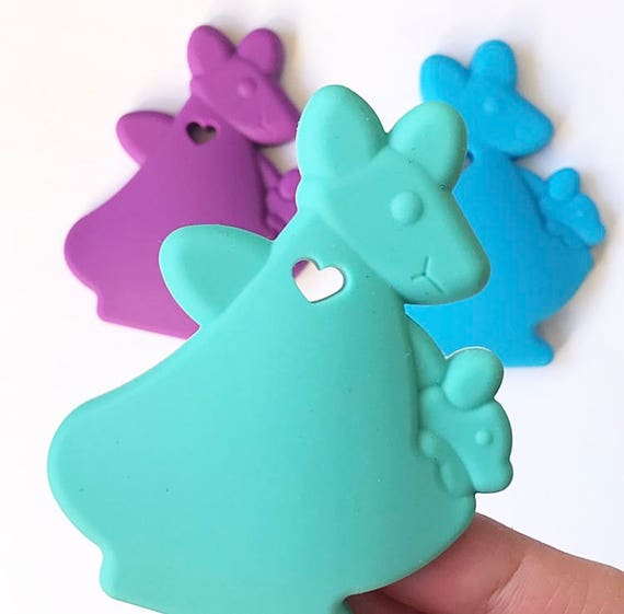 Silicone Teething Necklaces Teethers Elephant Anchor Baby Oral Sensory Chew