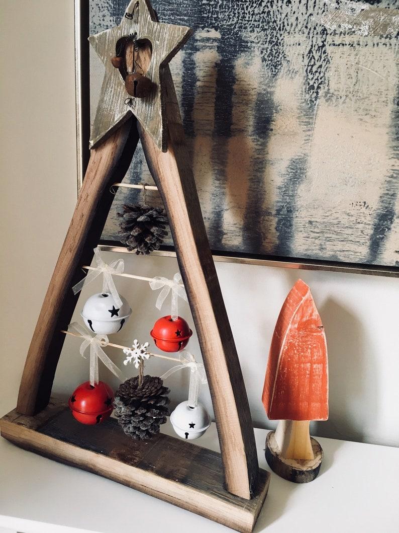 Wooden Xmas tree bells