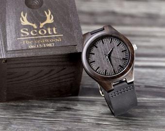 Custom Groomsmen Gift Wood Watches Engraved Wooden Watches Best man Proposal Groom Gift from Bride on Wedding Day Groomsmen Wooden Watch