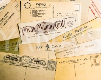 Vintage postcards / Ephemera for junk journaling