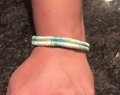 Pastel thread wrapped woven bracelet