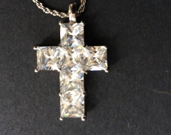 AdF Diamante Cross Necklace  [SKU201]
