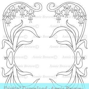 Ivy Flower Border Printable Download Adult Coloring Pages Etsy
