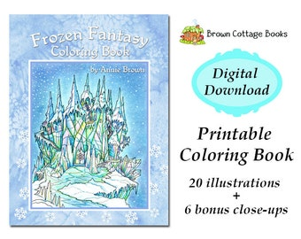 PDF Download Adult Coloring Book Fantasy Digi Stamp Printable | Etsy