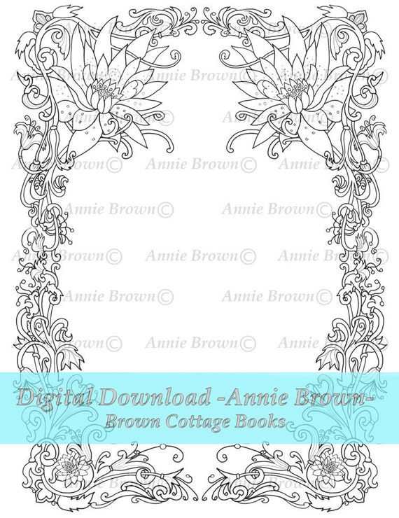 Coloring Images Of Flowers Photo Awesome Flower Border Coloring ... | 740x570