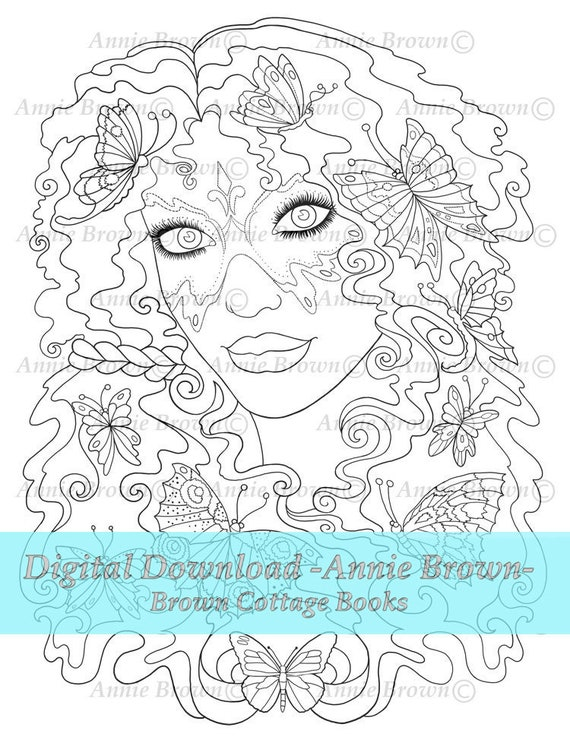 Fairy Dream Printable Download Adult Coloring Pages Fantasy Etsy