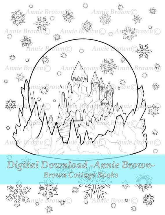 Christmas Coloring Page Instant Download Line Art Etsy
