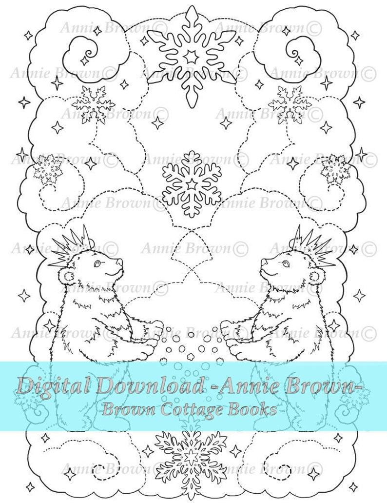 Animaux Pdf Télécharger Coloriage Adulte Fantasy Page Imprimable Téléchargement Digi Stamp Ligne Art Coloriage Ours Livre D Hiver Par Annie Brown