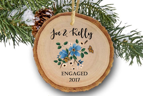 image 0 - Engagement Ornament Our First Christmas Engaged Ornament Etsy
