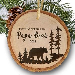 New Dad Papa Bear 2019 Christmas Ornament
