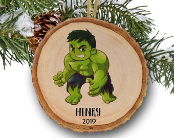 Personalized Christmas ornaments, Hulk, The Incredible Hulk, Toy, Name Ornament, Personalized Name Ornament, Toys, Hulk Christmas Ornament