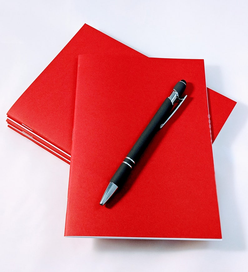 Notes School- 50 PACK Red Notebook 5 x 7 Inch Wedding Art BlankLined Notebook Journals Bulk Red Notebooks Red Journals Sketchbook