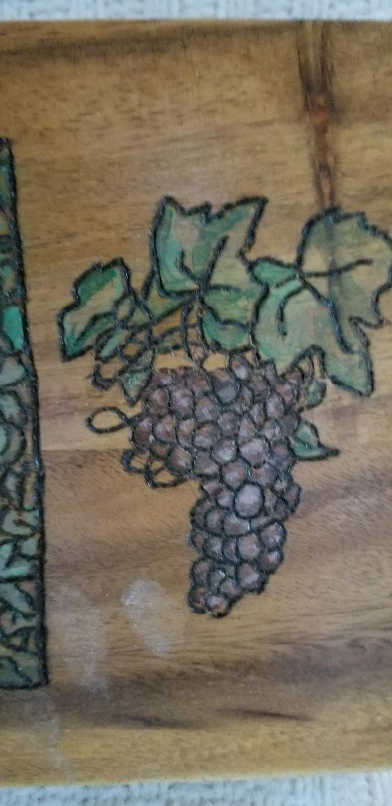 handpainted /& wood burned design makes it a unique way to celebrate wine lovers with compartments perfect for watches or jewelry Napa Style