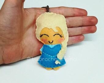 Elsa Frozen Brooch/Keychain