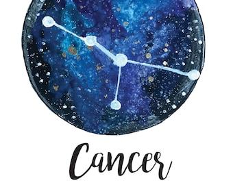 Cancer Zodiac Framed Print