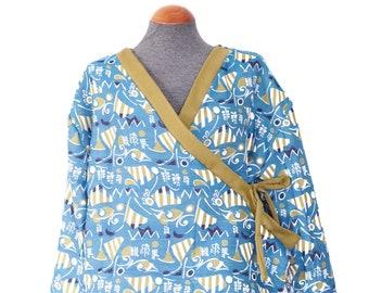Upcycling kimono cross jacket