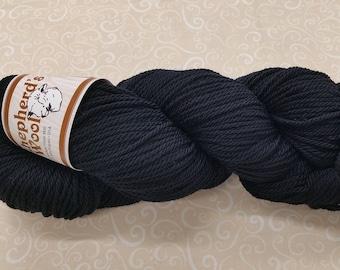 Shepherd's Wool - Worsted Spun Fine Wool - color #011418 Black