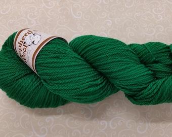 Shepherd's Wool - Worsted Spun Fine Wool - color #120517 Green