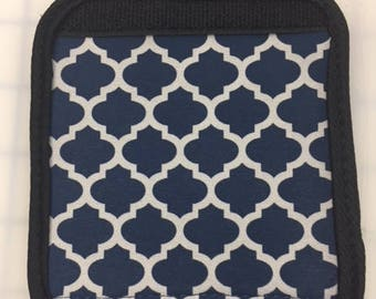 Embroidered Luggage Handle Wrap - Color: Navy