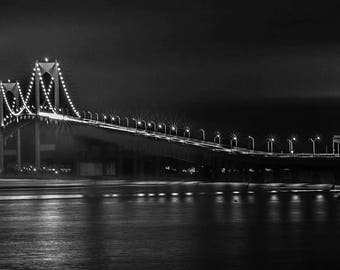 Prints and Framing Available -Newport Bridge Panorama