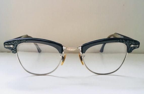 Sparkle Horn-Rimmed Green Eyeglasses Frames 1960s | Etsy
