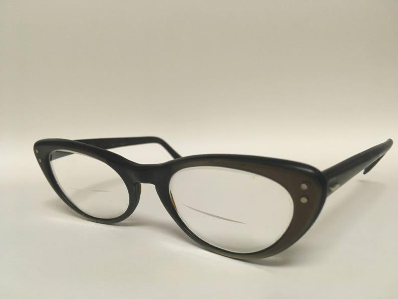 bab24569f2e7 Brown Cat Eye Glasses 1950s Vintage | Etsy