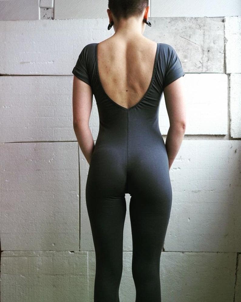 Grey Yoga Bodysuit Minimalist Fitness Overall Body Sport Wear Jumpsuit Festival Leotard Tricot Sport Tights Gift For Yoga Girls
