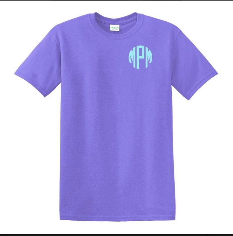 750453b7b429a Sale! Cheap Monogrammed shirt monogram unisex tshirt custom personalized  shirt short sleeve monogrammed shirt bridal party wedding gift