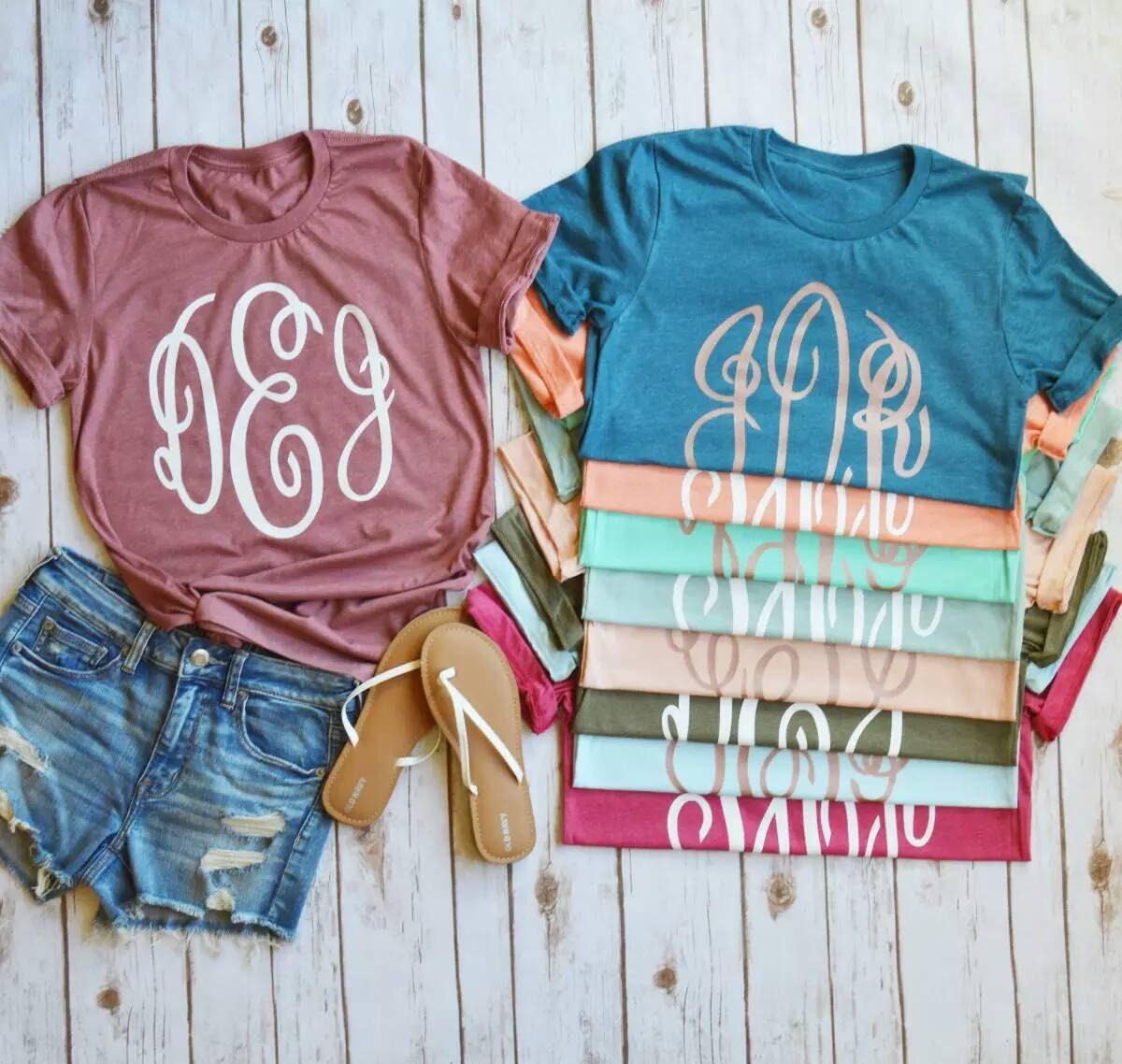 Sale Cheap Monogrammed Shirt Monogram Unisex Tshirt Custom Etsy