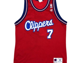 e4b568cdb78 Vintage Lamar Odom Los Angeles Clippers Champion NBA Basketball Jersey Size  40 Medium Shirt 90s