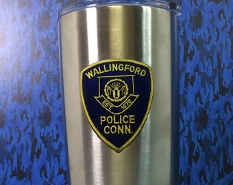 Wallingford Police Department 20 0z Stainless Steel Double Walled Hot/Cold Tumbler