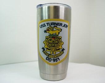 USS Turner Joy 20 0z Stainless Steel Tumbler