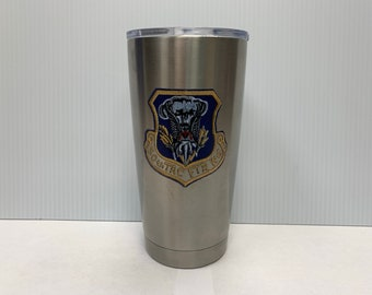 Custom Printed 20oz Stainless Steel Mug -- 50th Tactical Fighter Wing