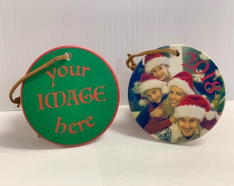"""Custom Photo Holiday Ornament (Upload Photo in the """"Ask A Question"""" tab)"""