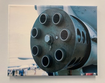 8x10in Canvas Wall Decoration -- GAU 8 30mm Avenger