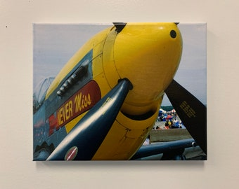 8x10in Canvas Wall Decoration -- P-51-D