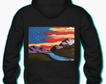 mountain zip hoodie