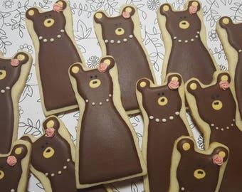 Lady Bear Royal Iced Cookies