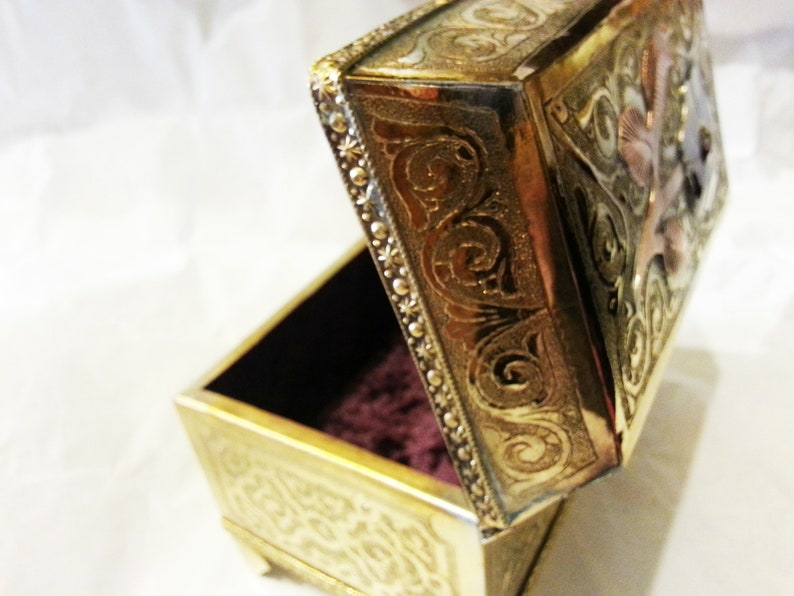Set Of 3 Moroccan Small cylindrical box,Handmade Brass Trinket Boxes,Unique Ring Box,Moroccan Home Decor
