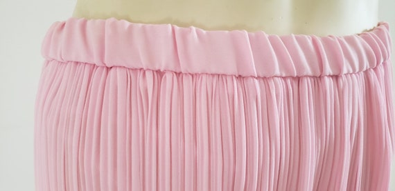 pink georgette Fortuny pleat skirt 1970's L - image 4
