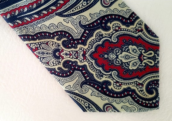 Polo neck tie bold paisley silk Ralph Lauren 1980s - image 2
