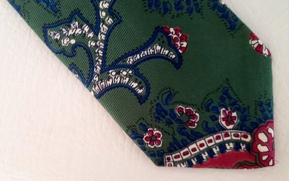 Polo neck tie hunter green silk Ralph Lauren 1980s - image 2