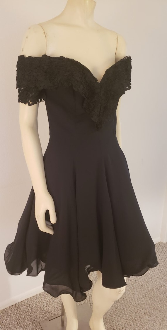 1980's does '50's black cocktail dress M Karen Oka