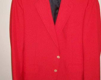 SALE bright red men's classic Cricketeer vintage sport coat 40R