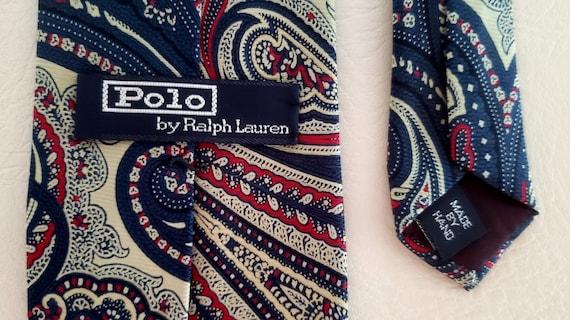Polo neck tie bold paisley silk Ralph Lauren 1980s - image 6