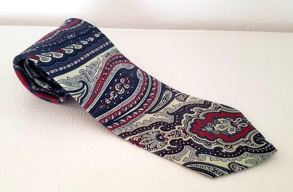 Polo neck tie bold paisley silk Ralph Lauren 1980s - image 1